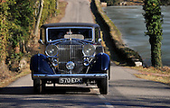 22/02/12 - CHAROLLES - SAONE ET LOIRE - FRANCE - Essais ROLLS ROYCE  PHANTOM III, Carrosserie BINDER de 1937 - Photo Jerome CHABANNE