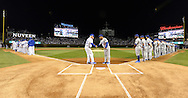 CHICAGO, IL - OCTOBER 15:  Manager Joe Maddon #70 of the Chicago Cubs shakes hands with Manager Dave Roberts #40 of the Los Angeles Dodgers during pre game introductions prior to Game 1 of NLCS at Wrigley Field on Saturday, October 15, 2016 in Chicago, Illinois. (Photo by Ron Vesely/MLB Photos via Getty Images) *** Local Caption *** Joe Maddon; Dave Roberts