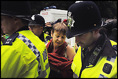 AUG 19 2013 Fracking protest in Balcombe-West Sussex