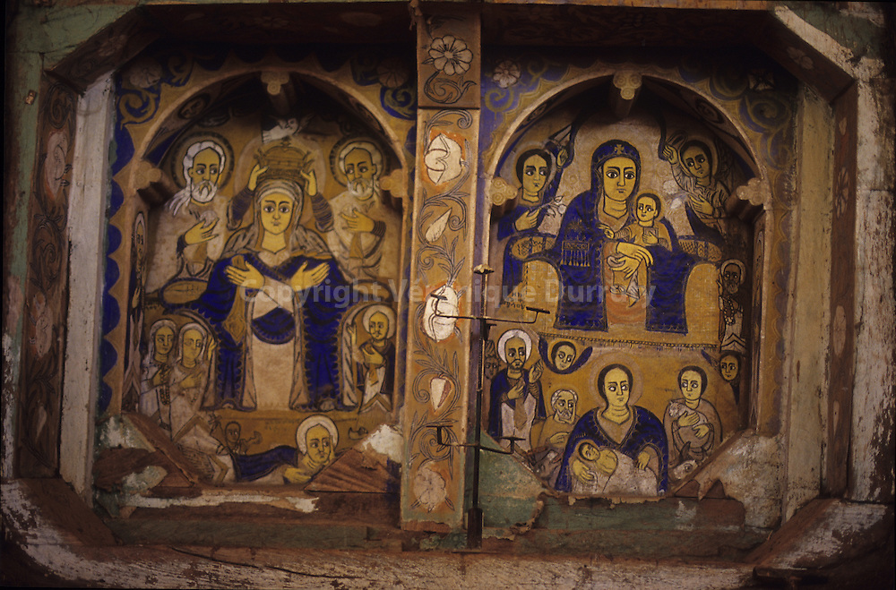 Ura Kidane Meret monastery is Situated in the Zege peninsula on the Tana lake. It is the most famous monastery of the region and its maqdas ( choir of the sancturary ) are,  beautifull painted.