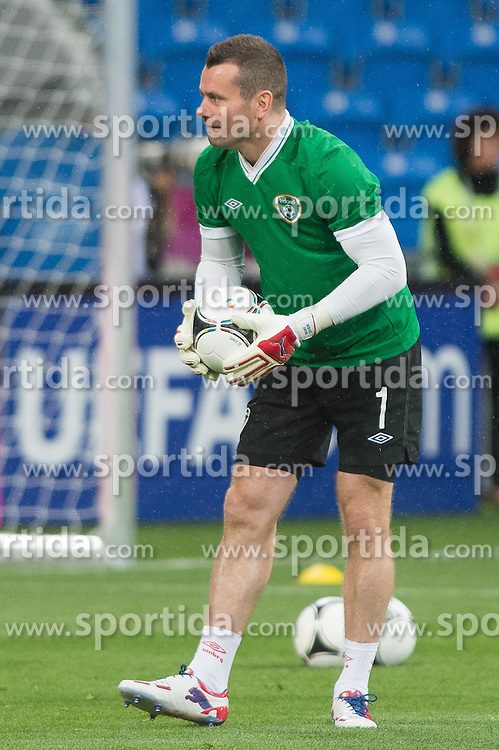 09.06.2012, Stadion Miejski, Poznan, POL, UEFA EURO 2012, Tschechische Republik, Training, im Bild SHAY GIVEN during the during EURO 2012 Trainingssession of Ireland Nationalteam, at the stadium Miejski, Poznan, Poland on 2012/06/09
