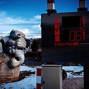 A radiation monitoring post at Itate village, Fukushima.  January 2012