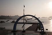 Cat Ba Ferry terminal at dusk, Cat Ba Island, Vietnam