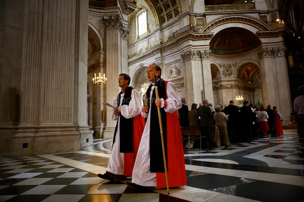 The Consecration of the Bishop of Repton at St Paul's Cathedral. The Bishop of Repton (front).