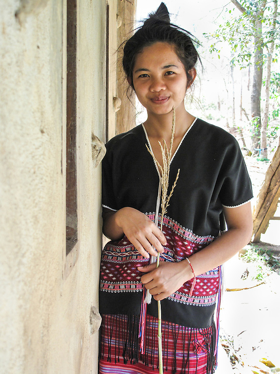 Noon's village is Christian. She was a teacher in Thonnam School. She would like to teach again She speaks three languages. Her English is good. Her favourite color ir orange.