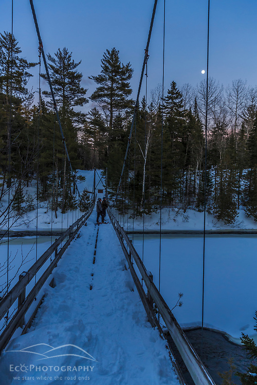 Crossing the East Branch of the Penobscot River at Bowlin Camps. Katahdin Woods and Waters National Monument.