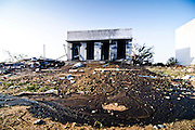 Dangerous inflammable gunpowder smeared all around out of the storage room after the accident. Image © Balaji Maheshwar/Falcon Photo Agency