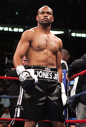 Roy Jones Jr. in the ring before his third fight against Antonio Tarver for the World Light Heavyweight Championship at the St. Pete Times Arena in Tampa, FL.