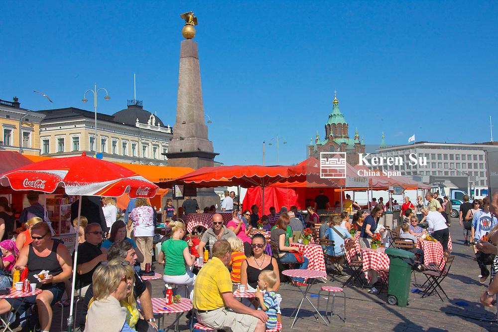 Market Square and Uspenski Orthodox Cathedral, Helsinki, Finland