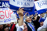 Kentucky delegates cheer for Condoleeza Rice at the Republican National Convention in Tampa, Florida, August 29, 2012.