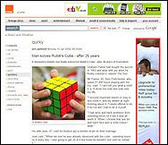 Rubik's Cube Puzzle / Orange.co.uk / January 2009