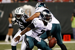Sept 3, 2009; East Rutherford, NJ, USA;   Philadelphia Eagles quarterback Michael Vick (7) during the second half of the Eagles game against the New York Jets at Giants Stadium.  The Jets defeated the Eagles 38-27.