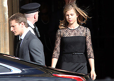 APR 16 2013 Baroness Thatcher's family leaving service at Palace of Westminster