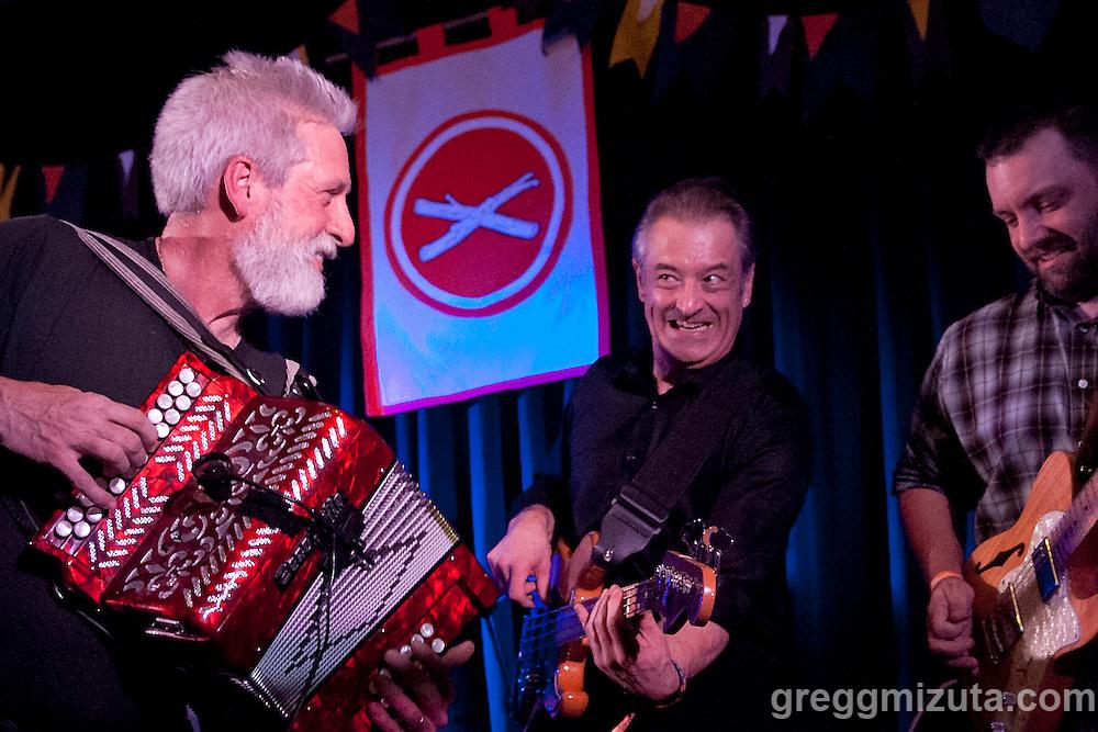The band Amuma Says No performs at The Basque Center during Day 4 of the Treefort Music Fest on March 26, 2016 in Boise, Idaho. (Gregg Mizuta/greggmizuta.com)<br /> <br /> Amuma Says No: Jill Aldape, Dan Ansotegui, Sean Uranga Aucutt, Rod Wray, Micah Deffries, David Gluck