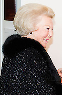 AMSTERDAM  , NETHERLANDS  - AUG 24 : Princess Beatrix arrives at the concertbuilding for the concert of  the The European Union Youth Orchestra . COPYRIGHT ROBIN UTRECHT