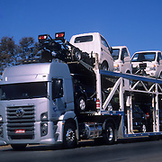 New light truck transportation by truck in Brazil; automobile manufacturing is an important industry in Brazil.