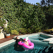 writer Gina Fattore at her Wonderland Ave home in Hollywood