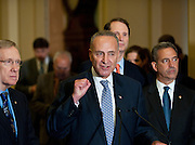 Jul 27, 2010 - Washington, District of Columbia, U.S., -.During a press conference on Tuesday, Senator Chuck Shumer (D-NY) explains how Senate Republicans are blocking passage of a bill that would force American companies and interest groups to disclose their roles in federal elections more than ever before. Later Democrats failed to end the Republican filibuster of the DISCLOSE Act on a 57-41 vote. (Credit Image: © Pete Marovich/ZUMA Press)