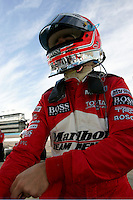Helio Castroneves at the Phoenix International Raceway, XM Satellite Radio Indy 200, March 19, 2005