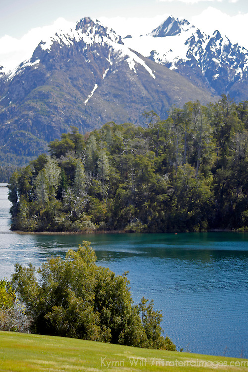 South America, Argentina, Bariloche. Lago Moreno at Llao Llao Resort.
