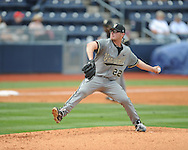 Vanderbilt pitcher Philip Pfeifer at Oxford-University Stadium Stadium in Oxford, Miss. on Sunday, April 7, 2013. Vanderbilt won 7-6 in 11 innings.