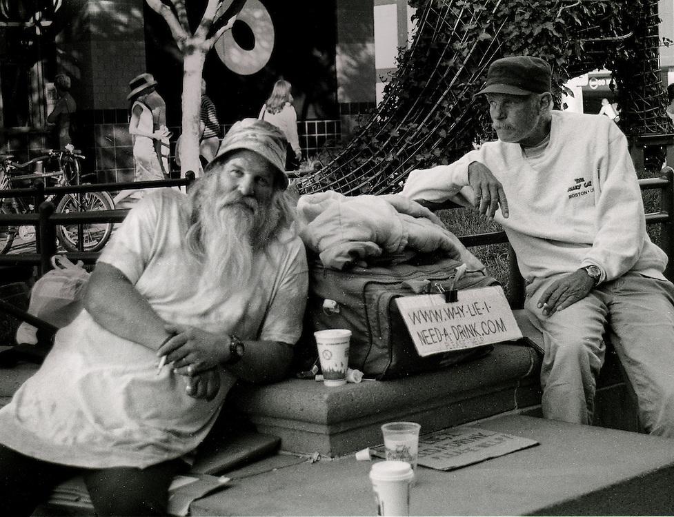 Panhandling during the .com bust, Santa Monica, CA
