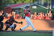 Mississippi's J.B. Woodman (12) bats against Louisiana-Lafayette in an NCAA Super Regional game in Lafayette, La. on Saturday, June 7, 2014.    Louisiana-Lafayette won 9-5.