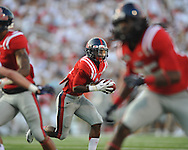 Ole Miss running back Jaylen Walton (6) scores on a 10 yard run vs. Central Arkansas at Vaught-Hemingway Stadium in Oxford, Miss. on Saturday, September 1, 2012.