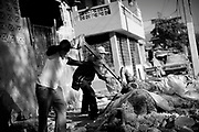 Port au Prince, Haiti -Monday 18.<br /> bodies recovered in the city center.