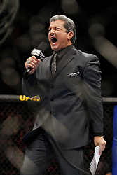 October 24, 2009; Los Angeles, CA; USA; Bruce Buffer announces the participants of the UFC light heavyweight championship bout at UFC 104.  Mandatory Credit:  Ed Mulholland