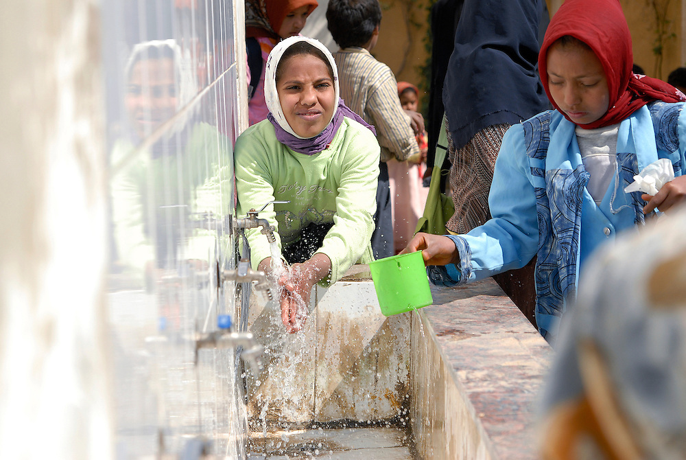 EGYPT, water projects for schools and families are supported by NGOs in rural in rural areas to improve living conditions and encourage people to stay in their villages.