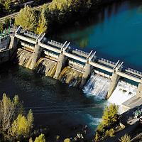 River dam in Jaca, Huesca.