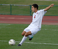 Ohio State defender Santiago Velez (6) clears the ball as OSU takes on Binghamton in the first half of an NCAA men's college soccer game in Columbus, Ohio on Sunday, Sept. 11, 2011, at Jesse Owens Memorial Stadium.