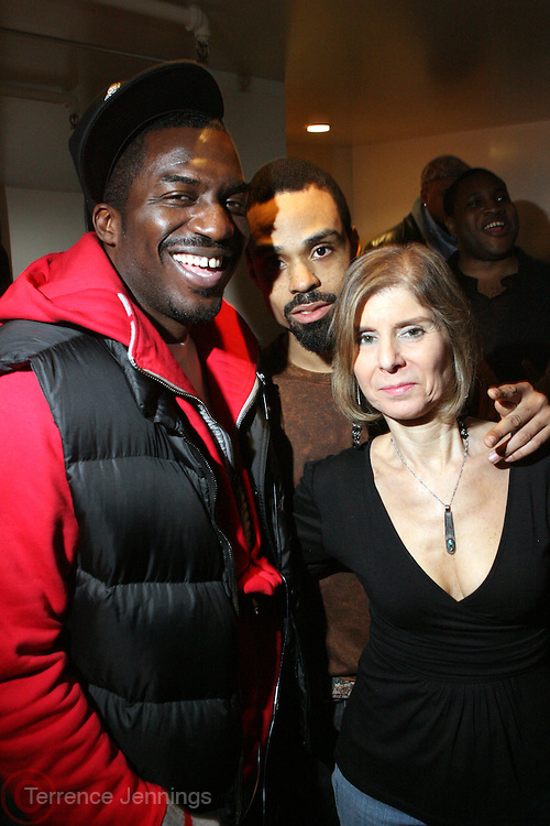 Corey Symth and Bilal and Jill Newman at The Bilal Show produced by Jill Newman Productions held at Highline Ballroom on March 8, 2008