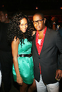 l to r; Solange Knowles, and Courtney Anderson at Solange Knowles NYC Album release party held at Butter in New York City on September 5, 2008