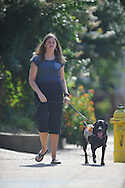 Sharon Stinson with her service dog Gracie in Oxford, Miss. on Wednesday, August 3, 2011.