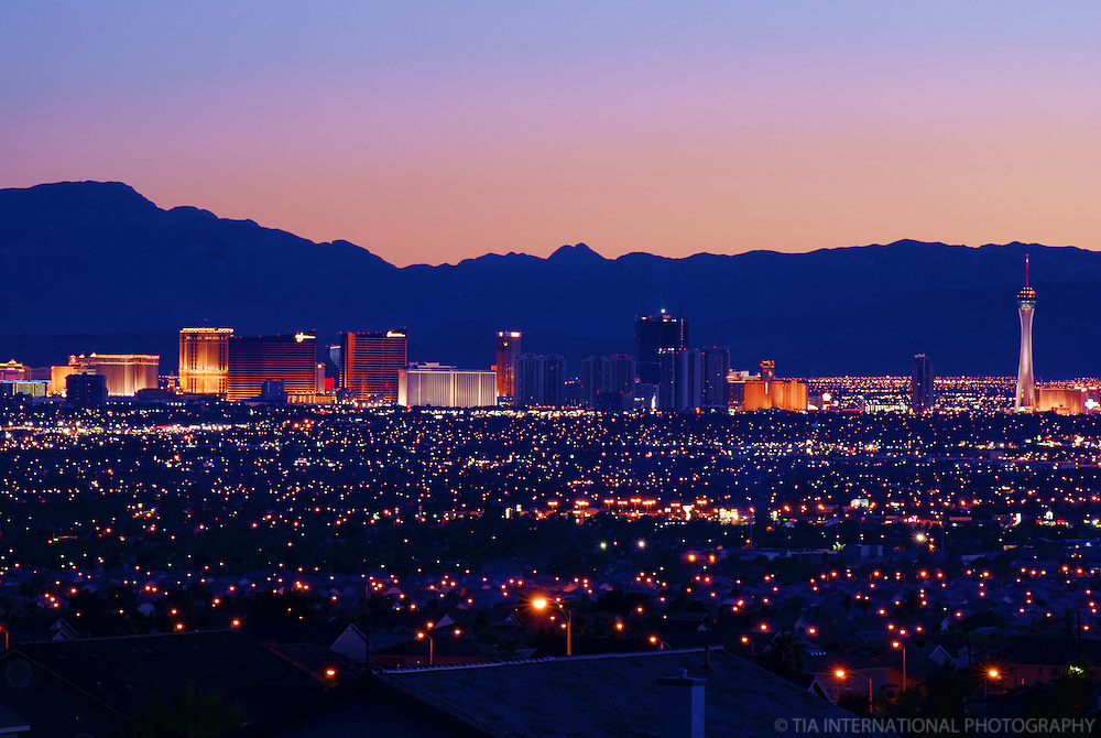 Las Vegas Skyline @ Sunset