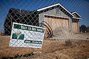 An unfinished housing subdivision is abandoned in Fresno, Calif., September 24, 2012.