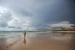 Broome's Cable Beach on a stormy wet season afternoon.