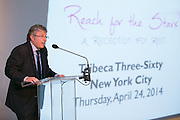 Reach for the Stars, a Reception for Rett was held April 24, 2014 at Tribeca Three-Sixty in New York. The evening raised funds for the International Rett Syndrome Foundation. Dr. Steve Kaminsky, IRSF's Chief Scientific Officer shared breakthroughs in research. Jodi and Andrew Miller were honored for their support. Silent and live auctions were held. (Photo: JeffreyHolmes.com)