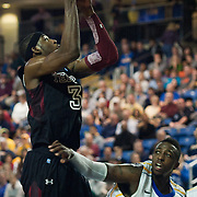 12/30/11 Newark DE: Temple Freshman Forward #3 Anthony Lee shoots the ball over Delaware Junior Forward #32 Josh Brinkley during a NCAA basketball game against Delaware Friday, Dec. 30, 2011 at the Bob carpenter center in Newark Delaware...Rahlir Jefferson-Hollis led the Owls with 13 points and eight rebounds, Anthony Lee added a career-high 12 points, seven rebounds, and three blocks, Juan Fernandez contributed 11 points, and Ramone Moore chipped in with 10 points and a game-high six assists.