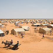 A view of a section of the Mbera refugee camp for Malian refugees in southeastern Mauritania on 1 March 2013.