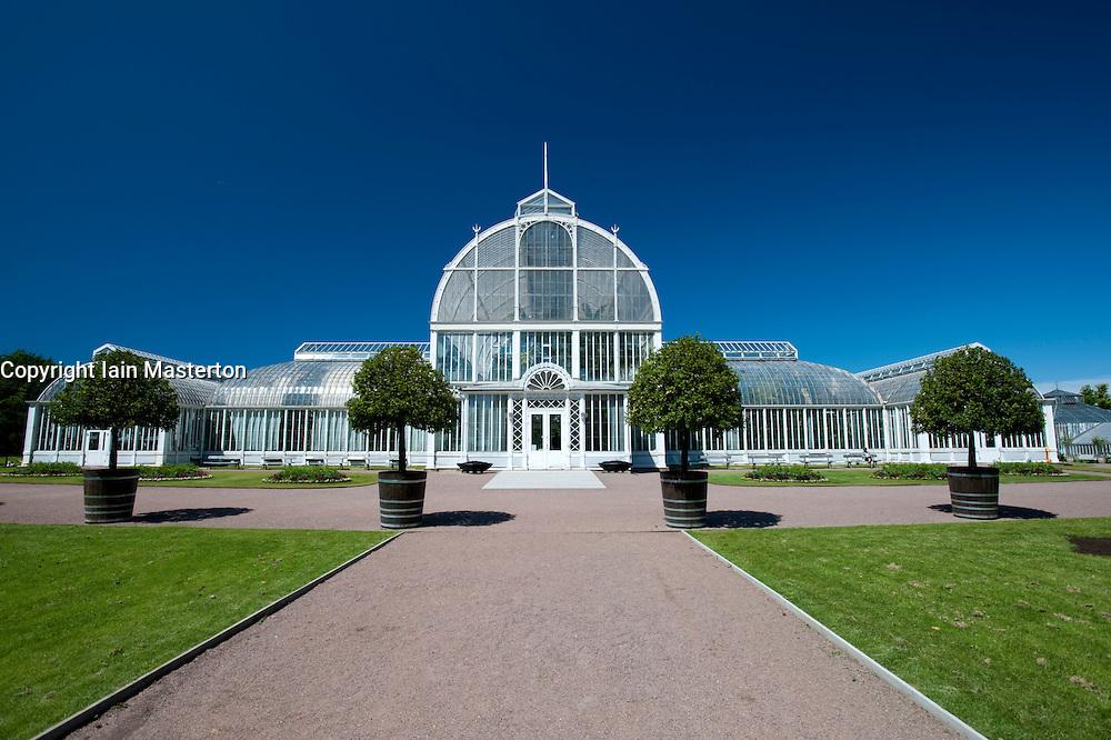 Glasshouses at Tradgardsforeningen Park in Gothenburg Sweden
