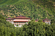 BU00020-00...BHUTAN - Government buildings in the capital city in Thimphu.