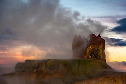 """Fly Geyser Sunrise 1"" - Photograph of the famous man made Fly Geyser shot at sunrise."