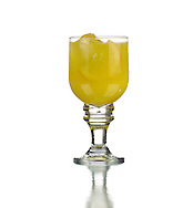 Orange juice with ice or Screwdriver