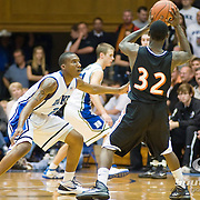 3 November 2009: Duke s#2 Nolan Smith guards #32 Jovaughn Brown or Findlay..The Duke Blue Devils defeat the Findlay Oilers 84 -48 in an exhibition game. Kyle Singler had 20 points as Duke wraps up it's pre-season.. Mandatory Credit:Mark Abbott / Southcreek Global