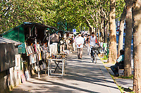 market along the seine in Paris France in Spring time of May 2008