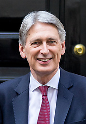 © Licensed to London News Pictures. 19/04/2017. London, UK. Chancellor of the Exchequer Philip Hammond in Downing Street. Yesterday, Theresa May called a snap General Election, to take place on 8 June 2017. Photo credit : Tom Nicholson/LNP