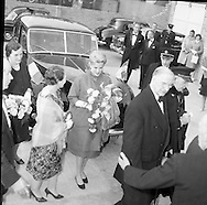 Royal Visit to Ireland by Princess Grace and Prince Rainier of Monaco. The couple attend Croke Park for the opening ceremony of the Dublin International Festival of Music and Arts, in which the National Operatic Orchestra of Monaco was participating.11.06.1961